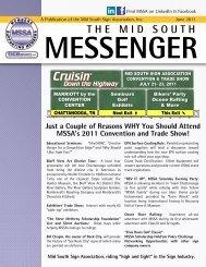 Midsouth Messenger - June 2011 - Mid South Sign Association