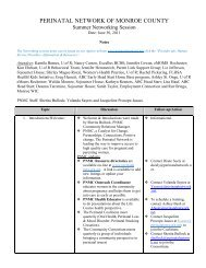 Summer Networking Session Notes (June 30, 2011) - Perinatal ...