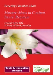 BCC Good Friday 2012.indd - Beverley Chamber Choir