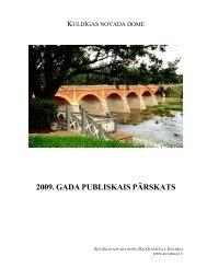 2009. GADA PUBLISKAIS PĀRSKATS - Kuldīga