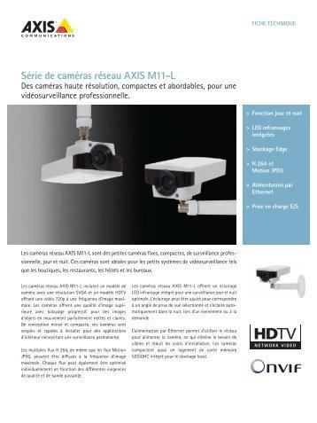 Série de caméras réseau AXIS M11-L - Axis Communications