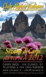 Attività 2012 - CAI Sezione di Carpi