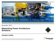 Networking Power Architecture Solutions - Freescale
