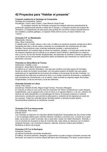 42 Proyectos expuestos - Sociedad Central de Arquitectos