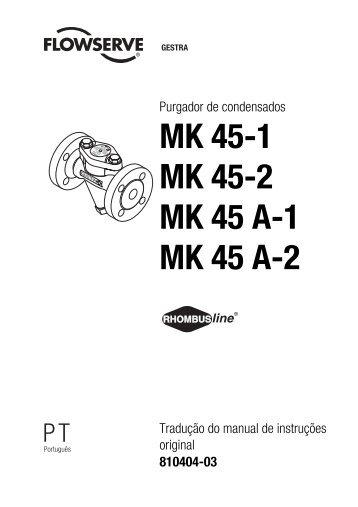 MK 45-1 MK 45-2 MK 45 A-1 MK 45 A-2 - Gestra AG