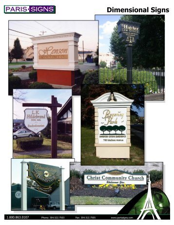 FlexiSIGN-PRO - Dimensional Signs - Paris Signs