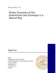 The Greenhouse Effect - Institutionen för naturgeografi och ...
