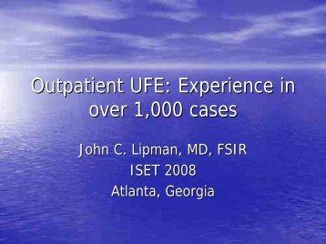 Outpatient UFE
