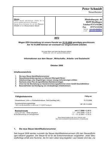 Peter Schmidt - Steuerberater Schmidt