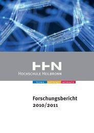 Forschungsbericht 2010/2011 - Hochschule Heilbronn
