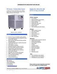 OTC Series - Portable Water Cooled Models OTC-.5W to OTC-10W ...
