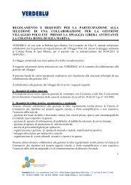 regolamento e requisiti per la partecipazione alla ... - Turismhotels