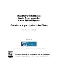 Detention of Migrants - National Network for Immigrant and Refugee ...