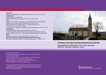 Gemeindebrief November/Dezember 2009 / Januar 2010