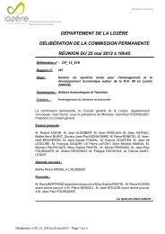 STATUT DU SYNDICAT MIXTE - Conseil général de la Lozère
