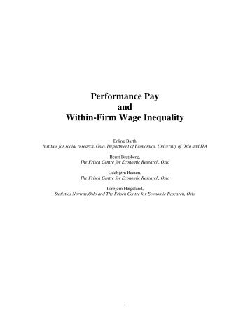 Performance Pay and Within-Firm Wage Inequality