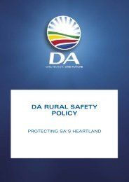 DA RURAL SAFETY POLICY