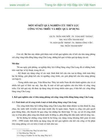 Bấm vào đây để tải về bài viết này (PDF; 254KB) - Hội đập lớn