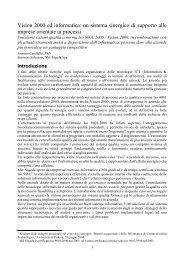 Vision 2000 ed informatica: un sistema sinergico ... - Antonio Candiello