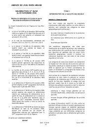 Zones de tarification et d'intervention applicables pour l'année 2007