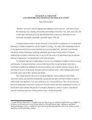 ECOLOGICAL URBANISM - Anne Whiston Spirn