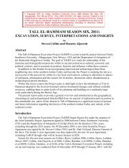 Tall el-Hammam Season Six (2011) Report