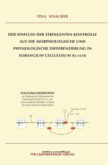 Der Einfluss der stringenten Kontrolle auf die morphologische und ...