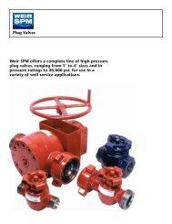 PLUG VALVES BROCHURE - FRONT - Weir Oil & Gas Division