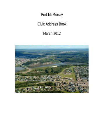 Fort McMurray Civic Address Book March 2012 - Regional ...