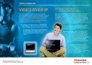 VIDEO OVER IP - Notebooks - Toshiba