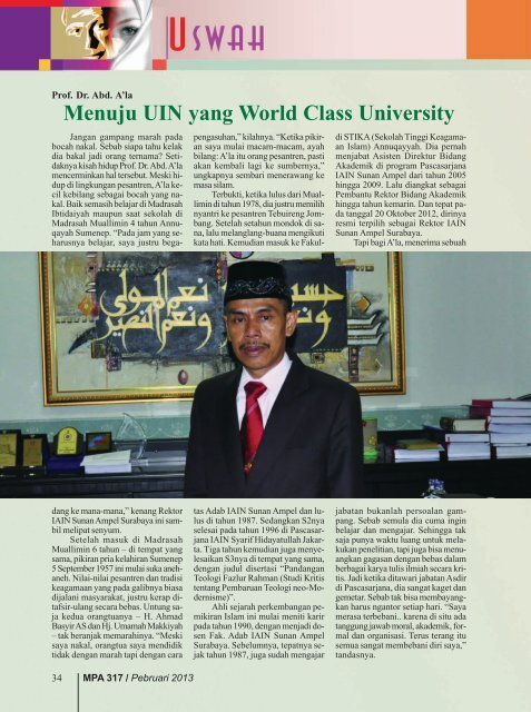 Prof. Dr. Abd. A'la - Kemenag Jatim