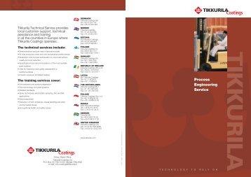 Process Engineering Service brochure - Tikkurila