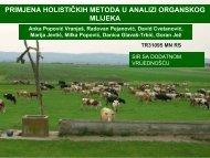 primjena holističkih metoda u analizi organskog mlijeka
