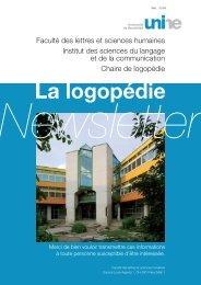 Newsletter 2008 - Université de Neuchâtel