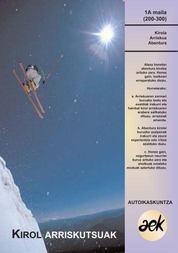 KIROL ARRISKUTSUAK - Hobekuntza