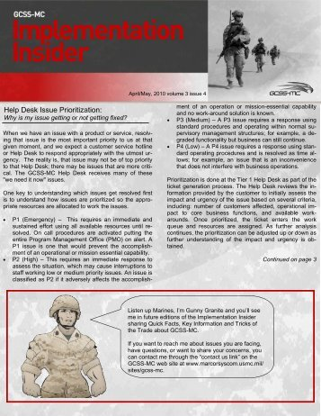 Implementation Insider - April/May 2010 (PDF - Marine Corps ...