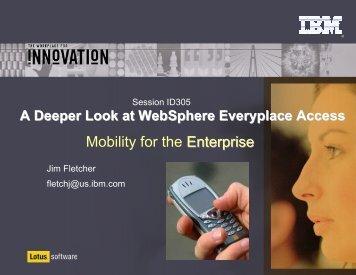 Mobility for the Enterprise - Lotus Sandbox