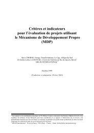 Critères et indicateurs pour l'évaluation de projets - HELIO ...