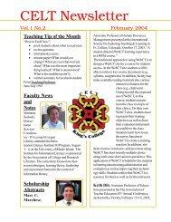 Newsletter, February 2004, Vol. 1, Nr. 2 - King's College