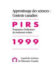 Le contexte canadien - Conseil des ministres de l'Éducation du ...