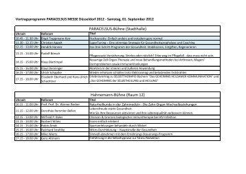 Programm (PDF) - Paracelsus Messe