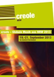 creole – Globale Musik aus NRW 2013 19.-21. September ... - WDR 3