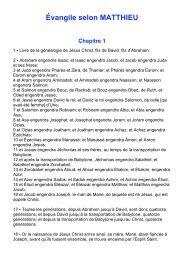 Évangile selon MATTHIEU Chapitre 1 - Laurent Remise