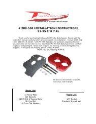 # 200-550 INSTALLATION INSTRUCTIONS 91-95 C/K 7.4L - Airaid