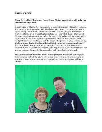 Green Screen - Bride and Groom Magazine