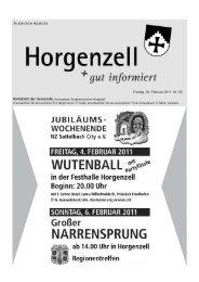 Ausgabe vom 04. Februar 2011 - Horgenzell