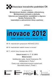 INOVACE 2012, Týden výzkumu, vývoje a inovací ČR - AIP ČR