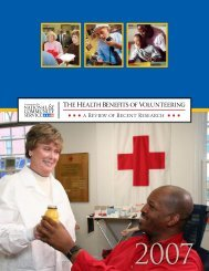 The Health Benefits of Volunteering - Corporation for National and ...