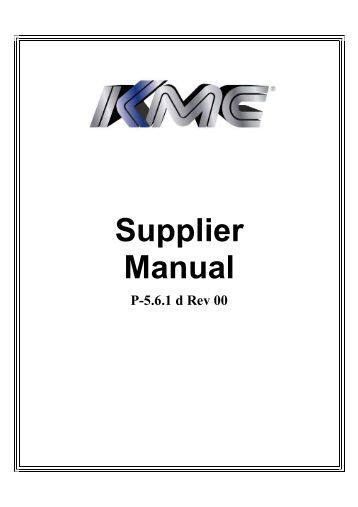 Biomet for Supplier quality manual template