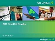 Interim Results 2007 Presentation - Aer Lingus